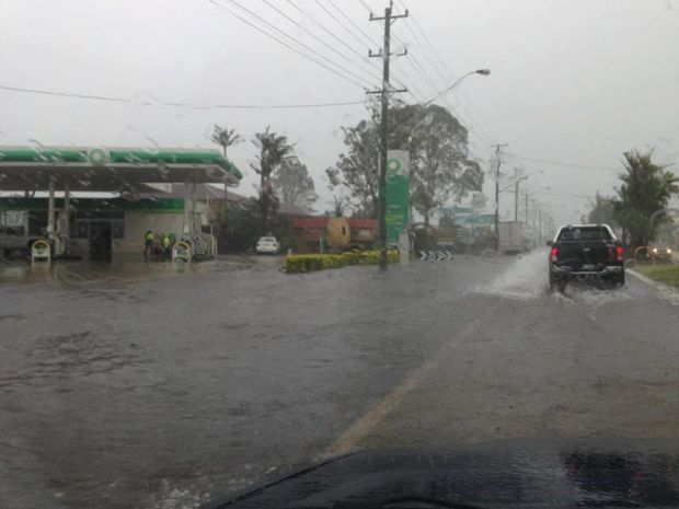 Flooding at the West Ballina BP