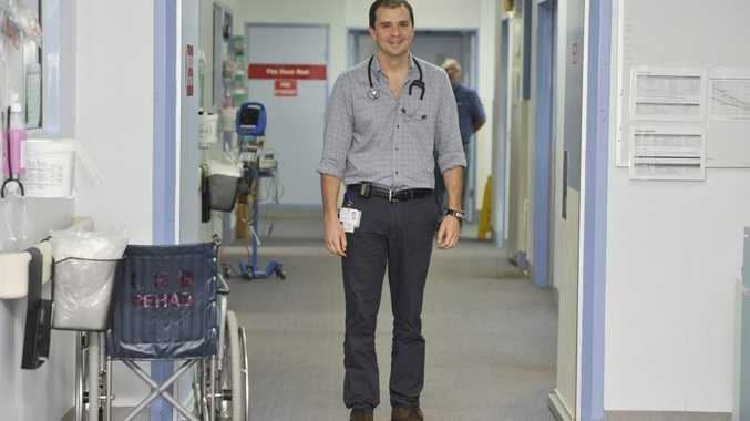 Dr Gonzalo De Angulo is doing his internship at the Lismore Base Hospital.