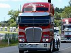 Convoy prime mover backing truckies