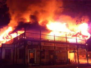 Uki in shock after historic pub goes up in flames