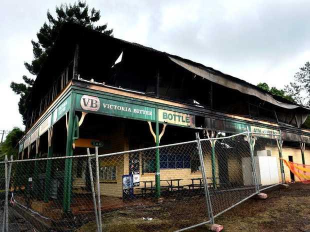 Uki fire at old pub.