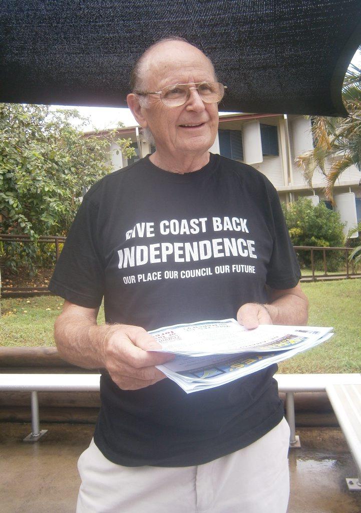 Former Livingstone Shire mayor, John Bowen says vote YES for a Capricorn Coast Council Photo Christine McKee / Morning Bulletin