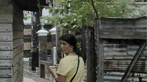 Rowena Robertson wanders along one of the narrow inner streets of Koh Larn.