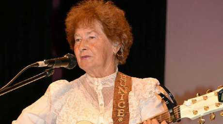 Eunice Payne performs at the Ultra Golden Country Music Festival at the Warwick Town Hall at the weekend.