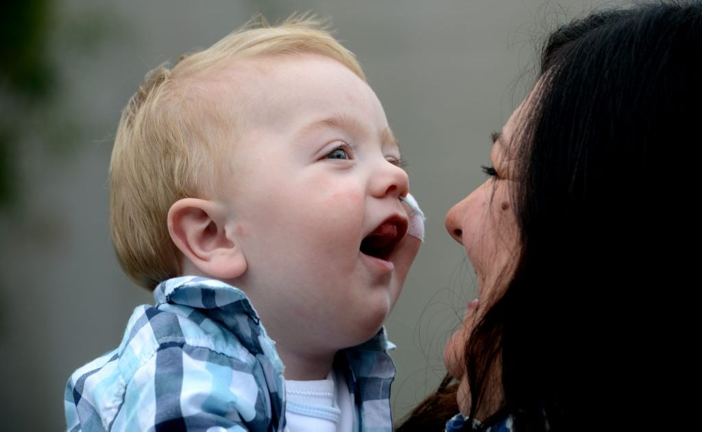 Luca pictured with his mother Laura Hurley.