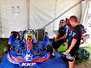Get a driver's-eye view from a KZ2 Pro Gearbox kart.