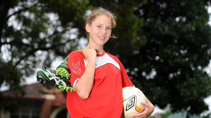Claire Farrington has been picked for a prestigious Northern NSW football age group.