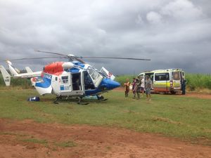 Man airlifted by AGL chopper after bike crash