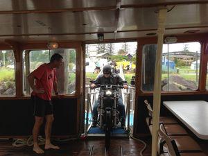 Ferry good way to get Harleys around flood