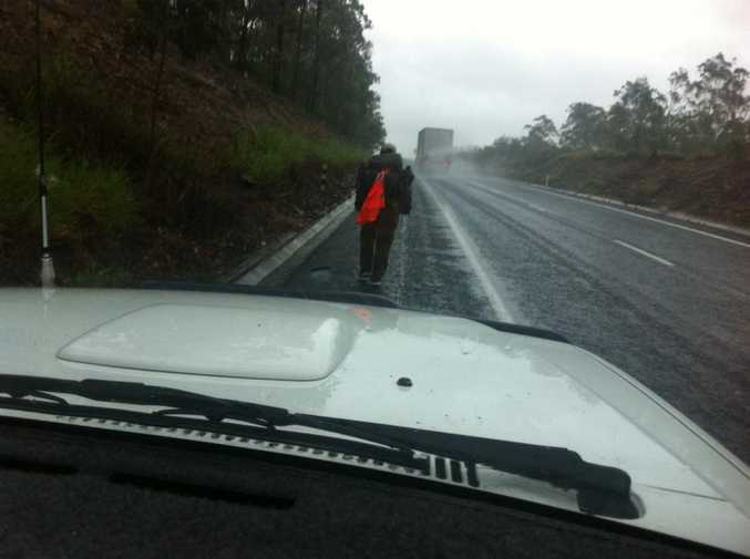 Nathanael tackles the dangerous Gatton Bypass.