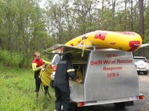 Swift water rescue crew at Pomona
