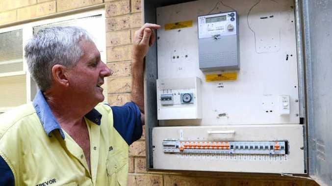 Gympie Football president Trevor Kirk is disputing the power bill since last month's flood.