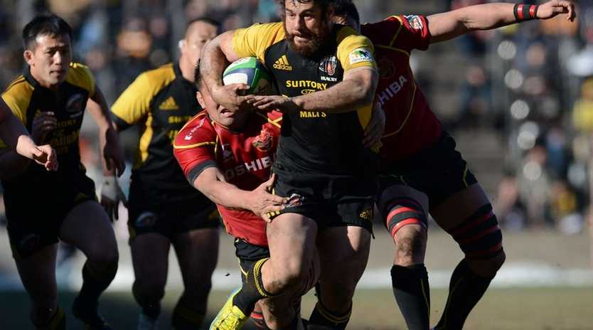 George Smith of Sungoliath in action during the Japan Rugby Top League playoff final match between Suntory Sungoliath and Toshiba Brave Lupus at Prince Chichibu Stadium on January 27, 2013 in Tokyo, Japan.
