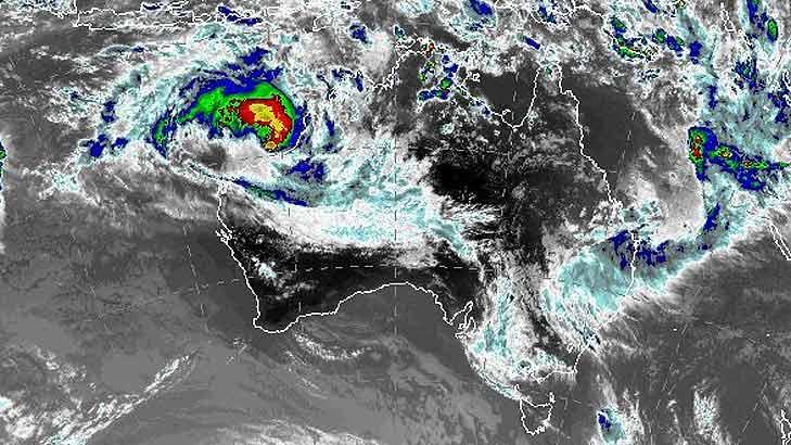 Cyclone Rusty is looming off the Western Australian coastline.