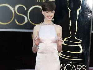 Anne Hathaway credits Hugh Jackman with film's success