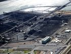 An aerial view of the RG Tanna Coal Terminal, Gladstone.