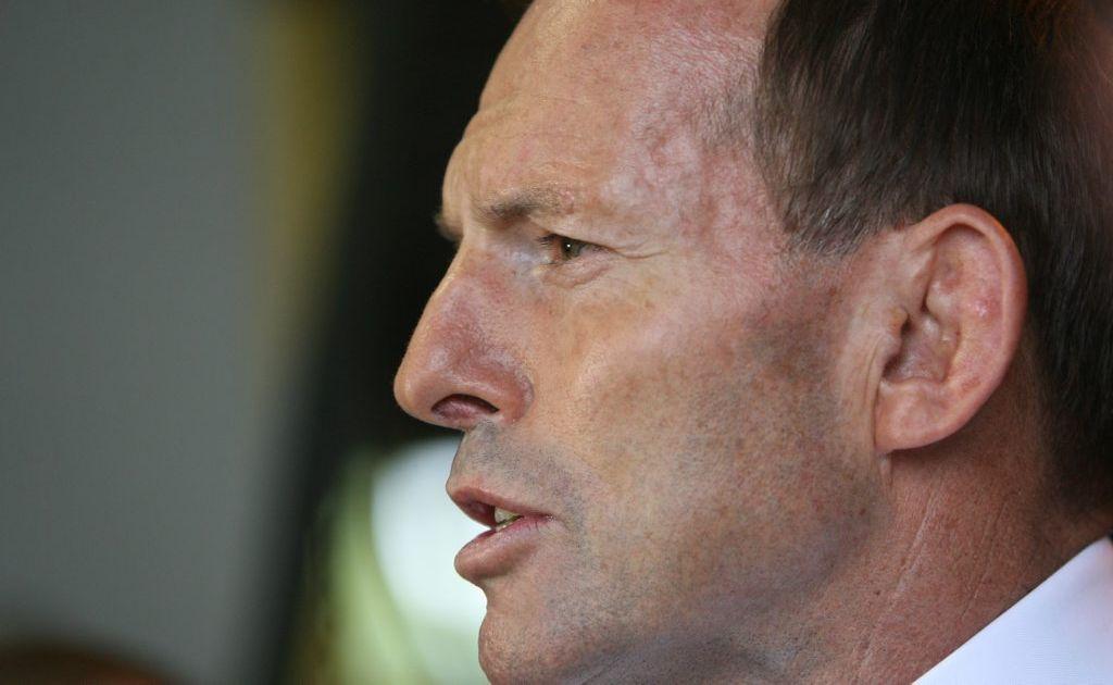 Opposition leader Tony Abbott