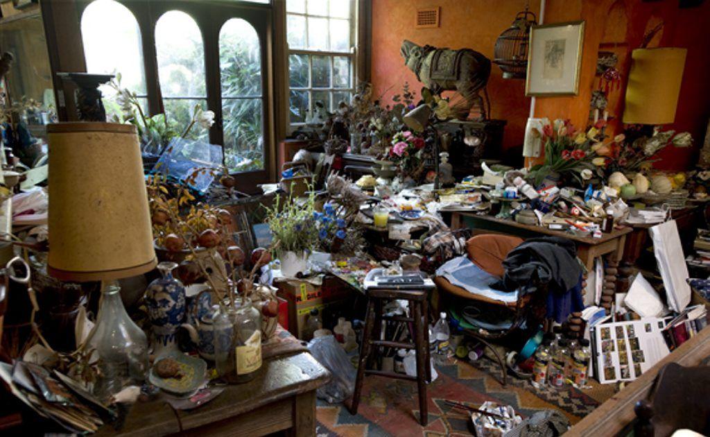 Artist Margaret Olley's home studio.