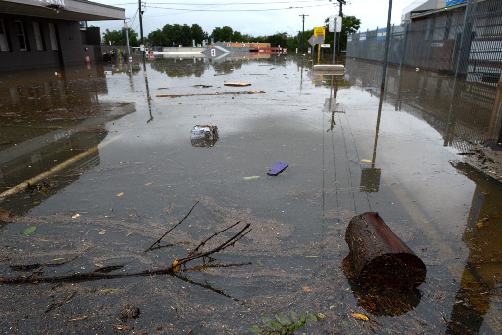 Monkland St flood in Gympie.