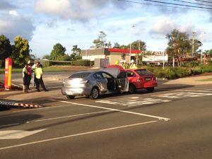 Drivers escape injury in peak-hour crash