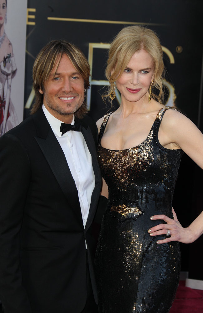 Keith Urban and wife Nicole Kidman at the Oscars.