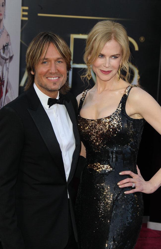 Keith Urban and wife Nicole Kidman at the Oscars.