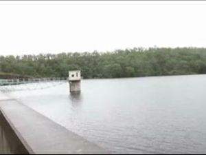 Cooby Dam overflows