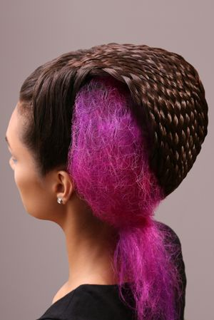 Danielle White's hair masterpiece took more than eight hours to construct.