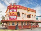 Saleyards Hotel, on Gladstone Rd. The site includes The Crooked Cactus - a Mexican restaurant.