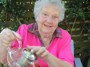 Joan marks 20 years of serving tea for a cure