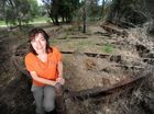Rikki Grinberg, of South Ballina, uncovered a ship wreck on her morning walk, believed to be from late 19th Century