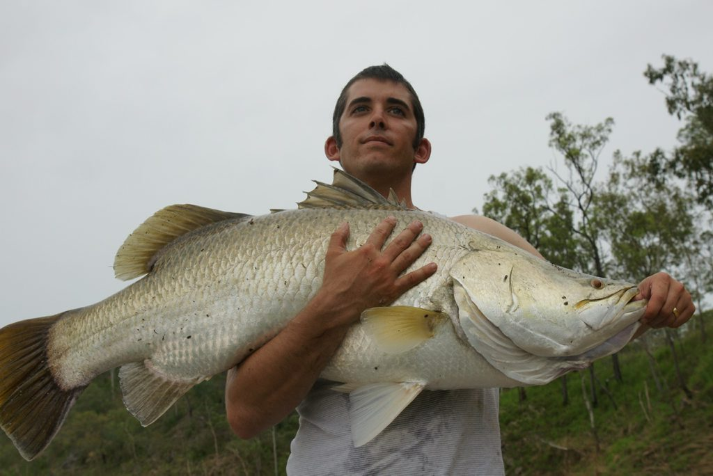 Ryan Barber with a Boyne River barra caught this week.