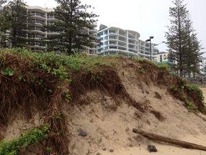 Foam and erosion on Sunshine Coast beaches