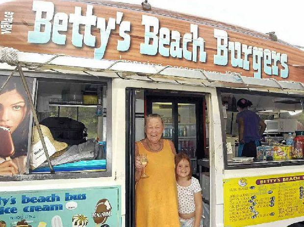 Betty Wallace of Betty's Beach Burgers.