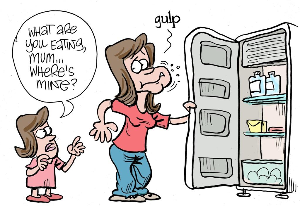 Harry Bruce cartoon for Supermum column published February 28