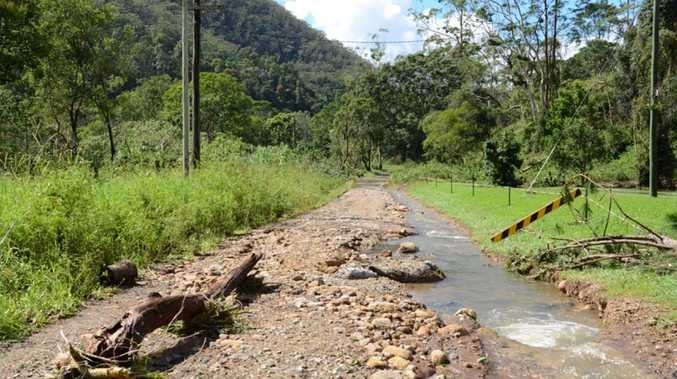 Images collected by Byron councillor Duncan Dey of damage at Upper Coopers Creek.
