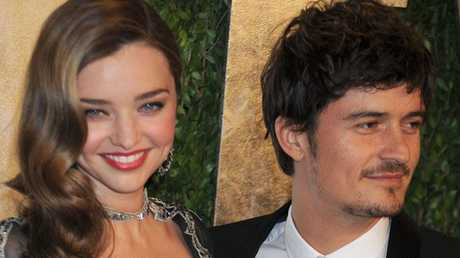Miranda Kerr and husband Orlando Bloom at the 2013 Oscars.
