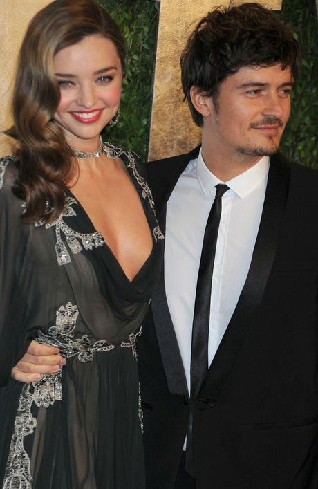 Miranda Kerr and husband Orlando Bloom at the 2013 Oscars.