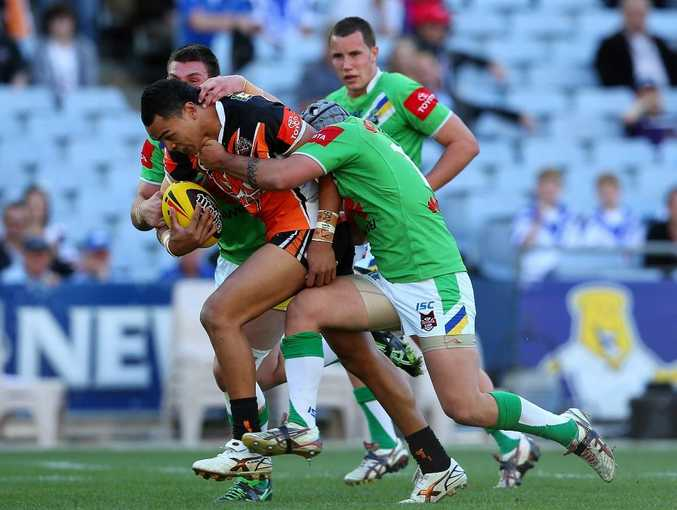 Mosese Fotuaika of the Wests Tigers.
