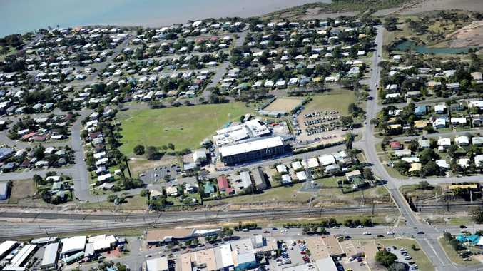 Aerial View of Yaralla Sports Club with Barney Point in the background.