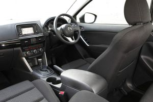 Inside the range-topping Mazda CX-5.