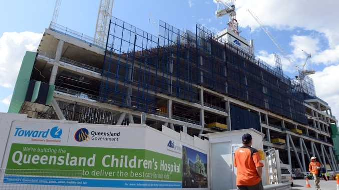 The construction site of the new Queensland Children's Hospital in Brisbane.