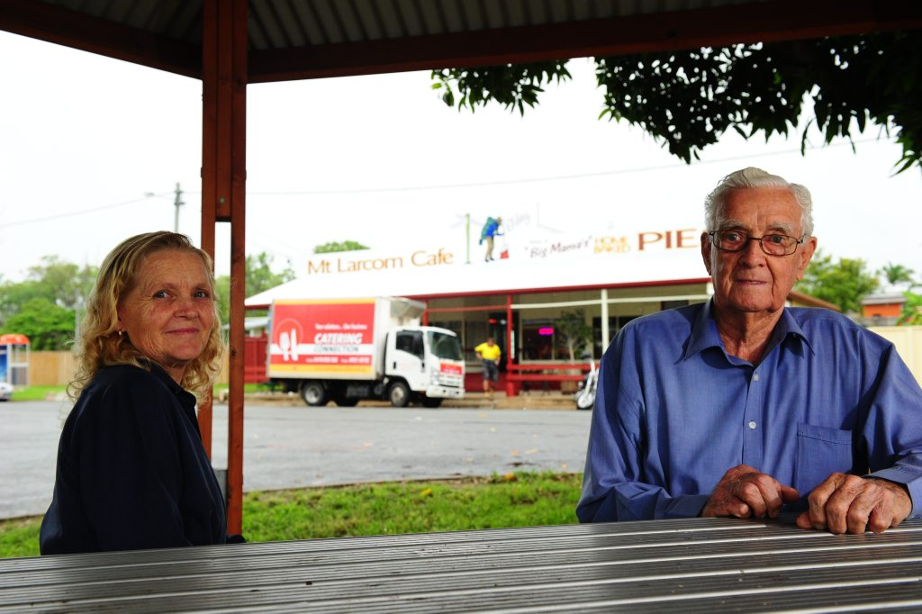 Mount Larcom residents: Judy Major and Colin Tummon. Many residents in Mount Larcom would like to see their town develop, not into a big town like Gladstone, but perhaps to a town of 500-1000 homes.
