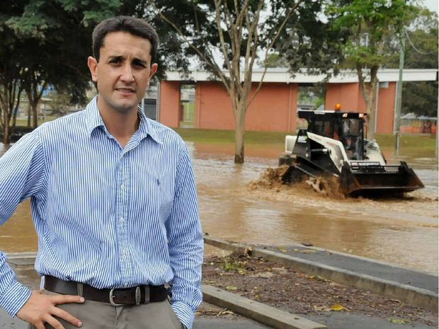 Resilience Minister David Crisafulli in Gympie yesterday.