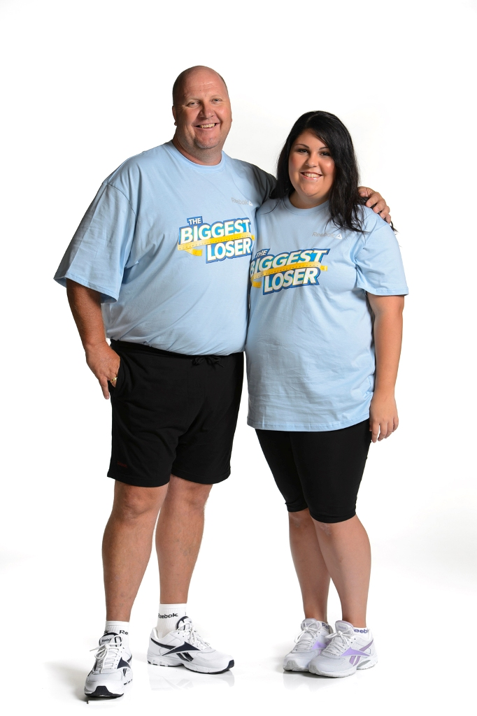 The Biggest Loser: The Next Generation team Richard and Amber-Rose Roach, from Beaudesert,