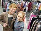 KEEN OP-SHOPPERS: Jarryd Bailey, 22, and Hannah McFarlane, 24, at the Salvation Army Op-Shop in Lismore.