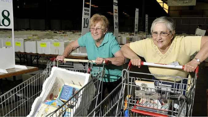 BIG READ: Long-time volunteers Liela Ford (left) and Marion Dent will be helping out at this weekend's Lifeline Bookfest.