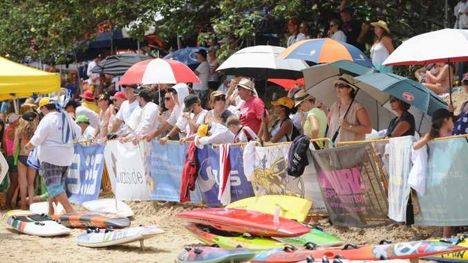 The crowd at the 2013 Queensland Junior Life Saving Championships at Torquay beach.