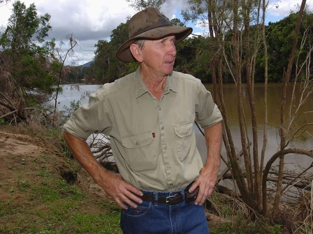 Ron Black's idyllic river property has continued to collapse into the Mary River, taking his irrigation system with it.