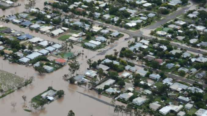 The lower end of Condamine St was badly hit in Dalby's recent floods. Photo courtesy of Western Downs Regional Council.